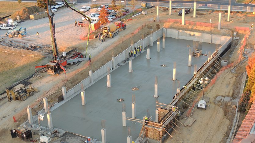 Utica Place III Foundation Progress Photo cast-in-place