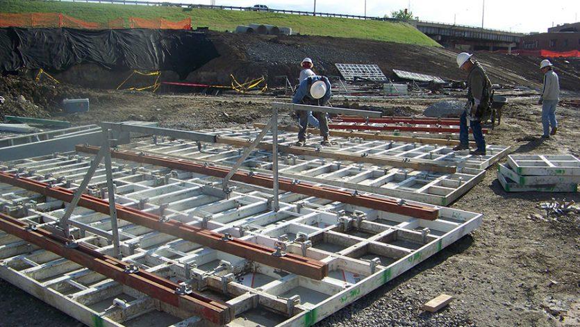 ONEOK Field basement wall forms