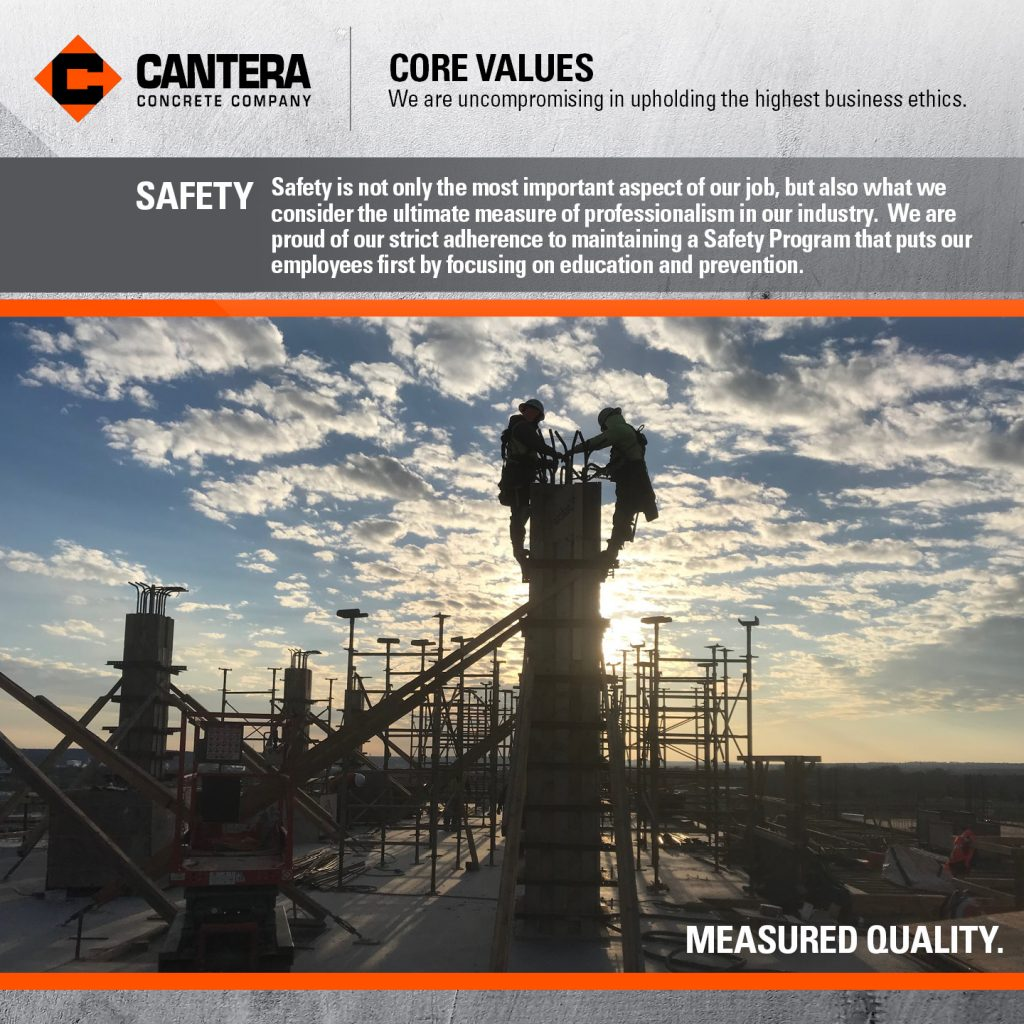 Safety is not only the most important aspect of our job, but also what we consider the ultimate measure of professionalism in our industry.  We are proud of our strict adherence to maintaining a Safety Program that puts our employees first by focusing on education and prevention.