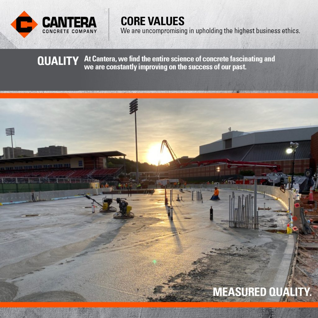 At Cantera, we find the entire science of concrete fascinating and we are constantly improving on the success of our past.