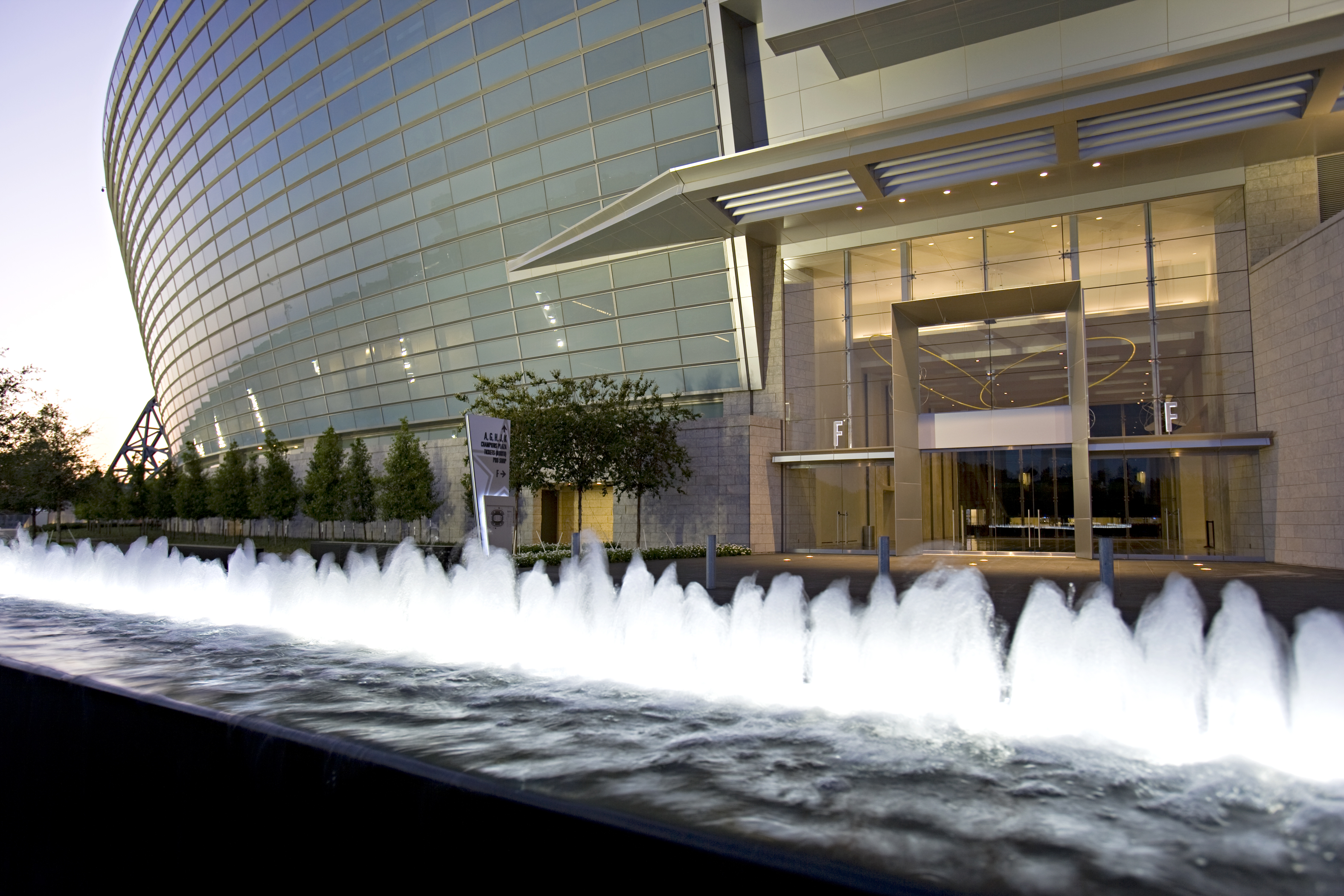Cowboys Stadium Exterior Side Entrance Fountain