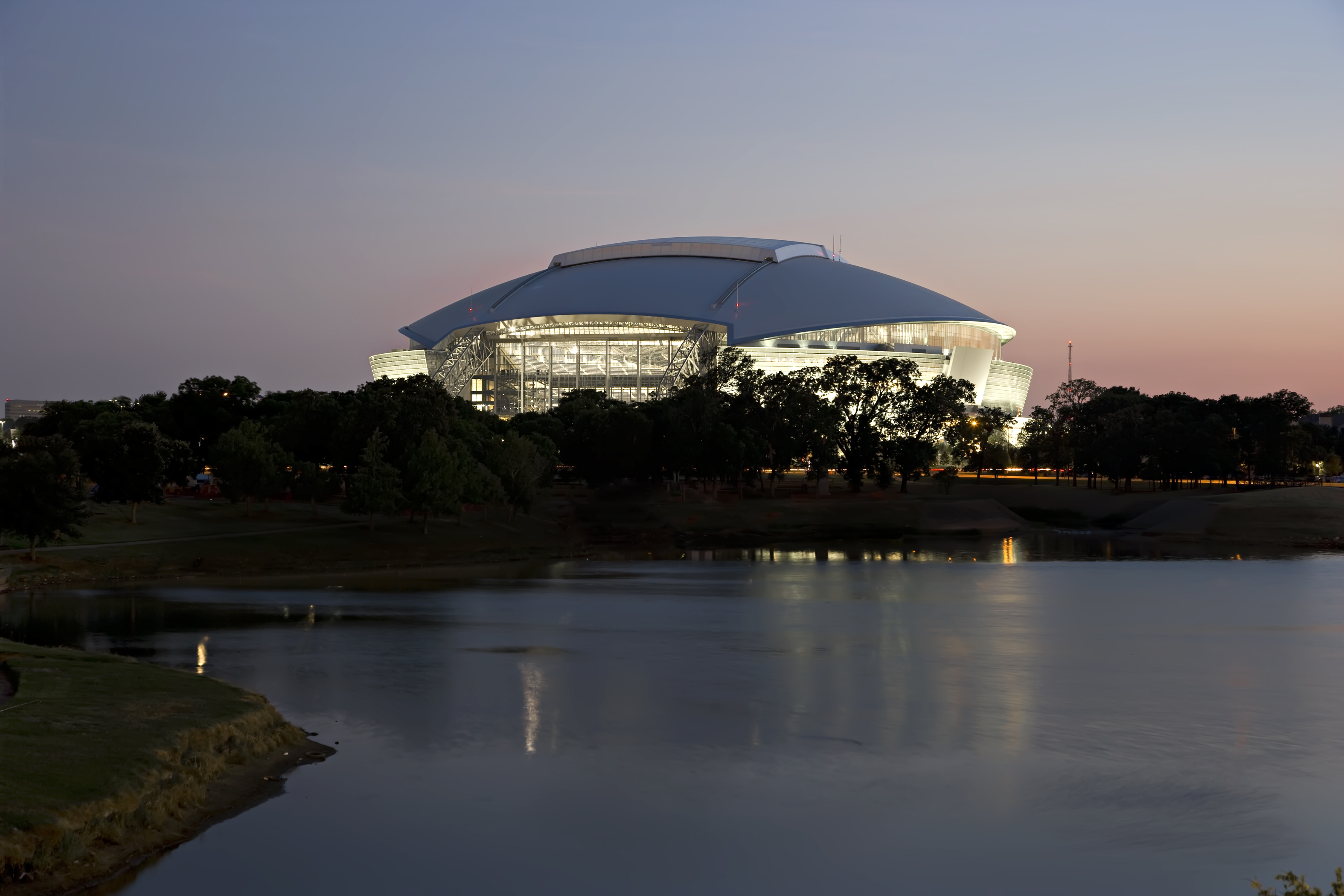 Cowboys Stadium at Sunset