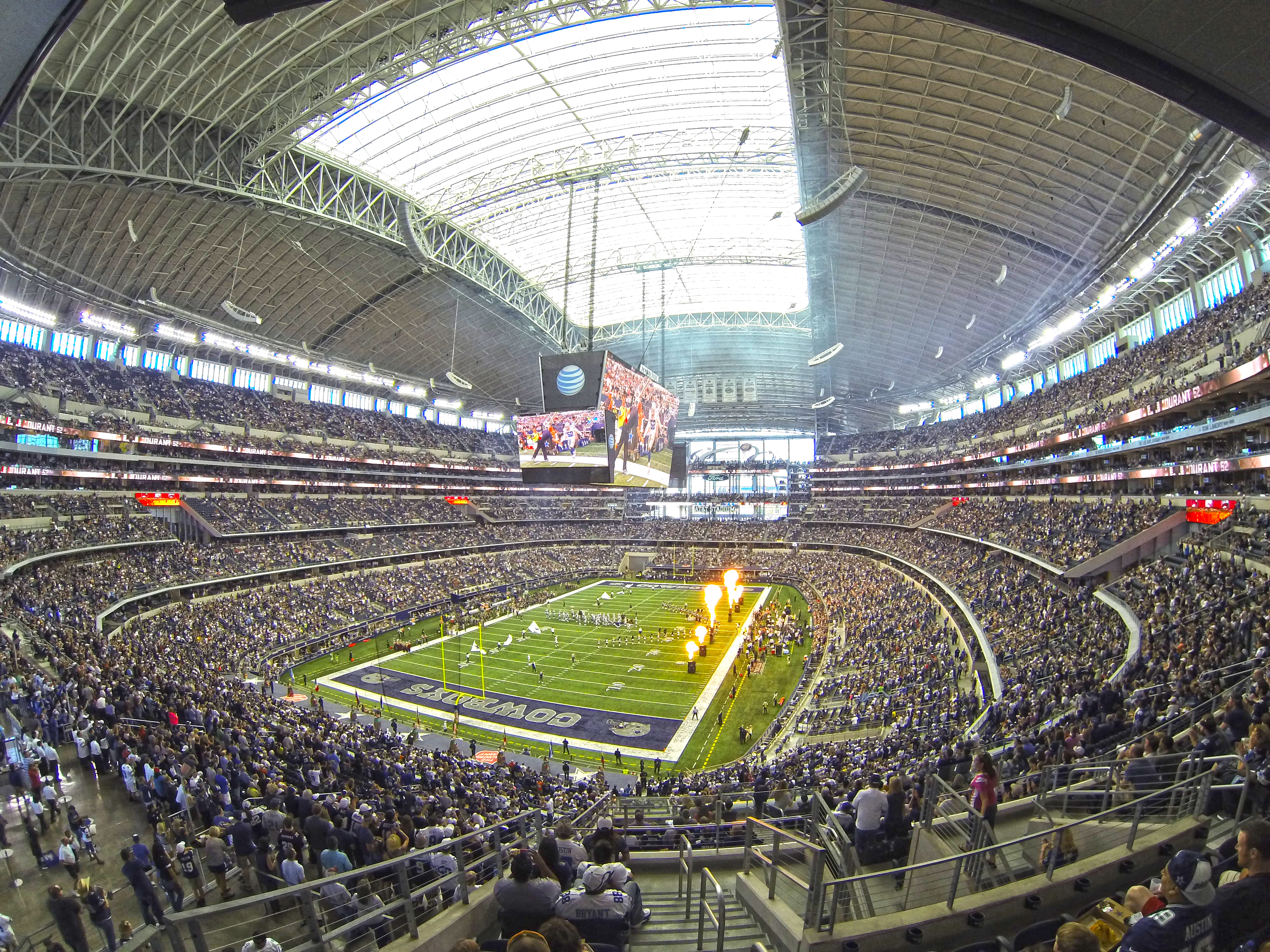 Cowboys Stadium Interior Bowl Photo Day Game