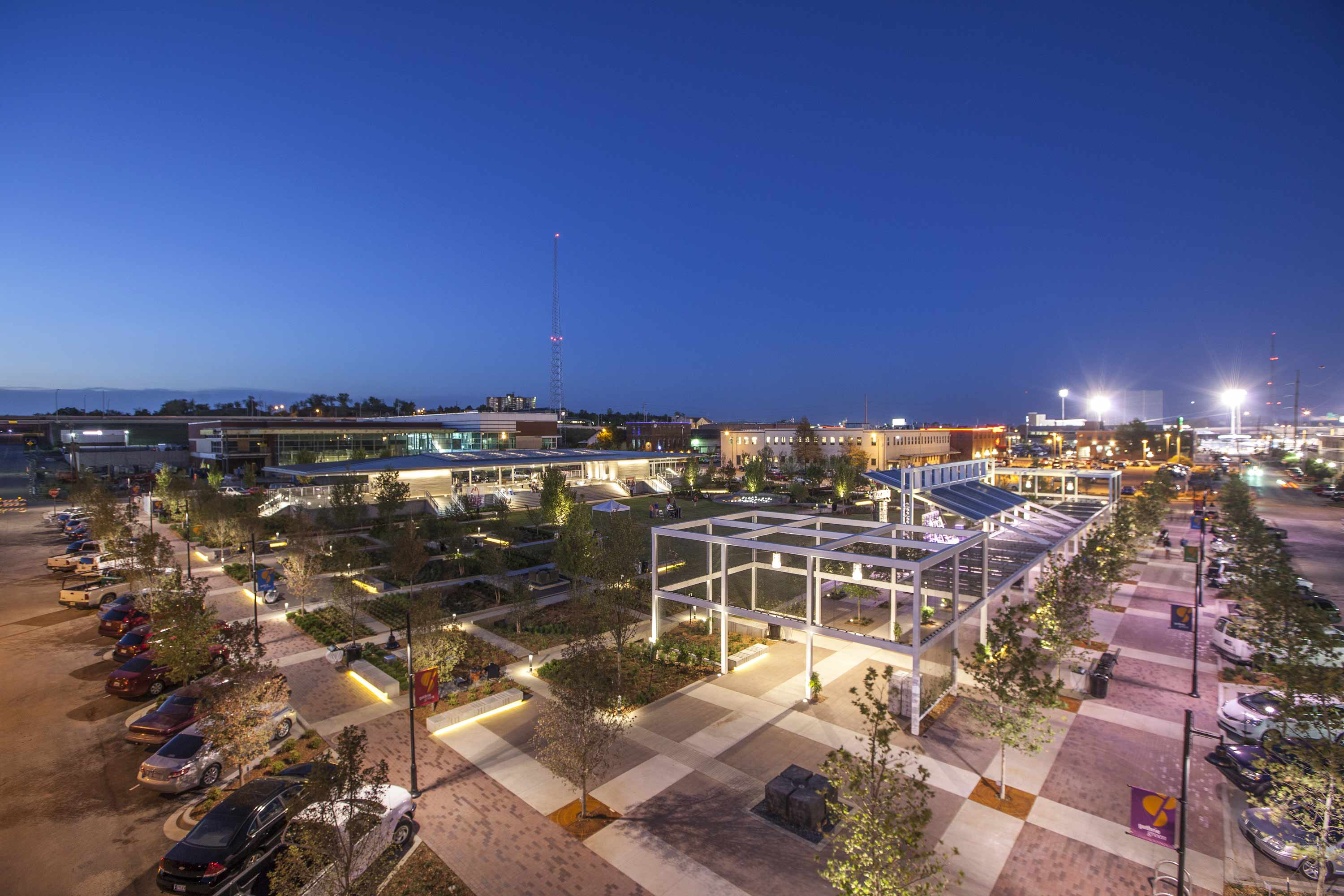 Guthrie Green Overview Night Photo