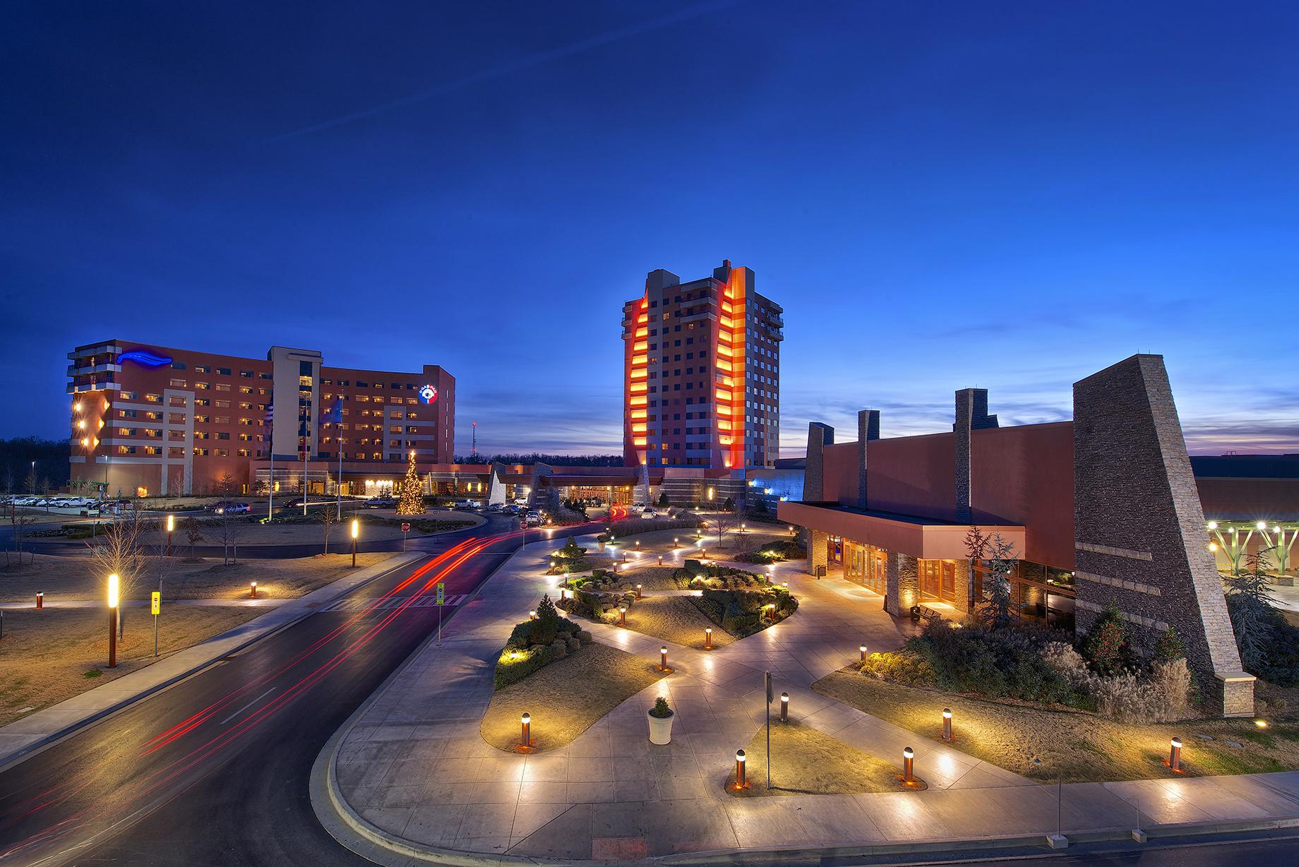 Downstream Casino Exterior Night Photo