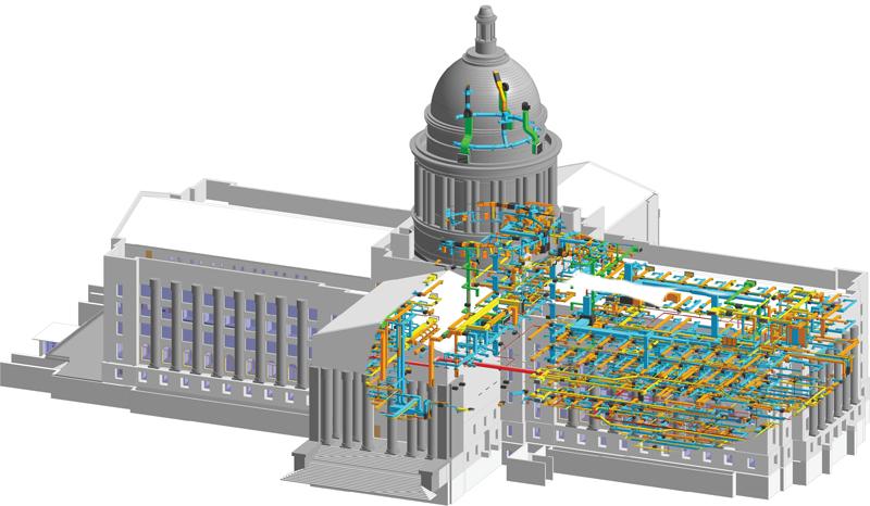 Oklahoma State Capitol Restoration BIM Model