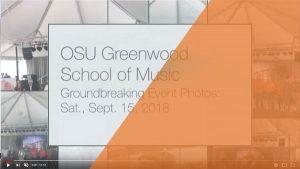 OSU Greenwood School of Music Groundbreaking