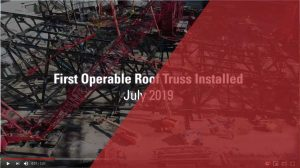 First Operable Roof Truss Installed at Globe Life Field