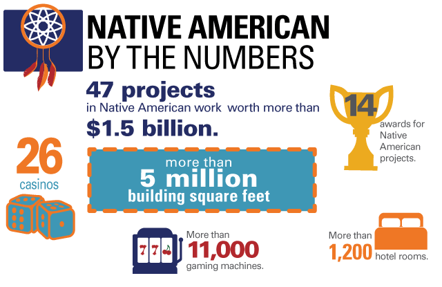 Native American Projects By the Numbers infographic