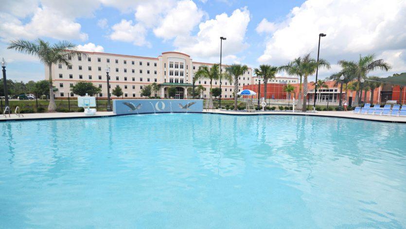 Florida Gulf Coast University South Village Housing Pool Complex